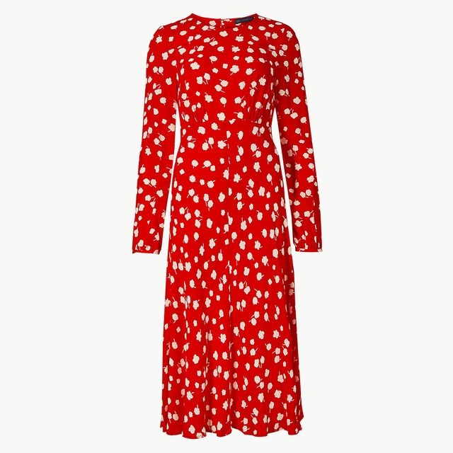 Marks & Spencer Floral Print Midi Dress