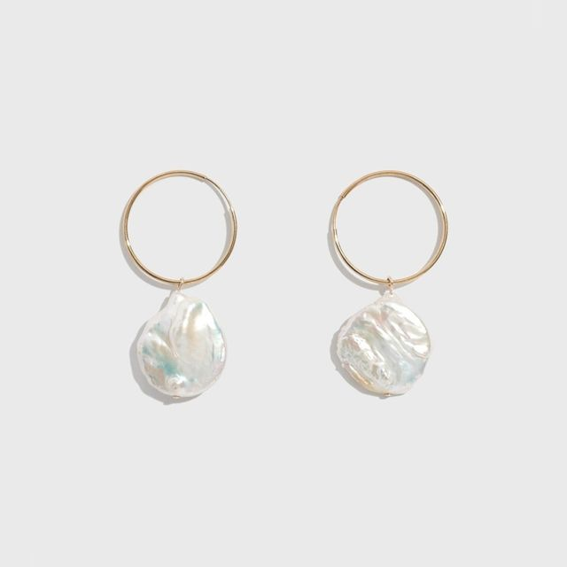 Wolf Circus Gold Pearl Hoop Earrings