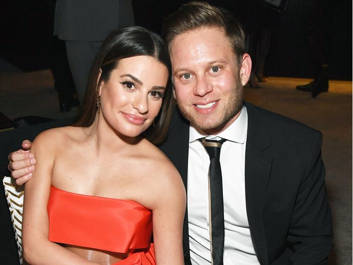 1623a072693 Lea Michele Just Got Married in a Jaw-Dropping Wedding Dress