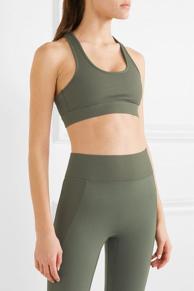 Front Row Ribbed Stretch Sports Bra