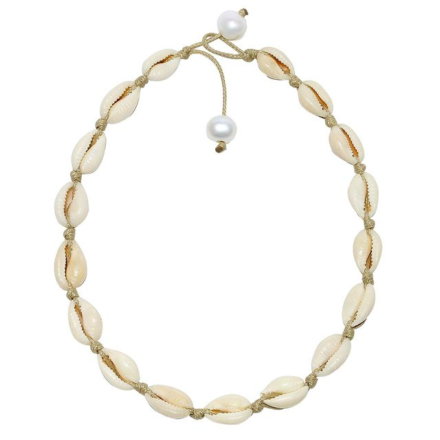Potessa Sea Shell Choker Necklace
