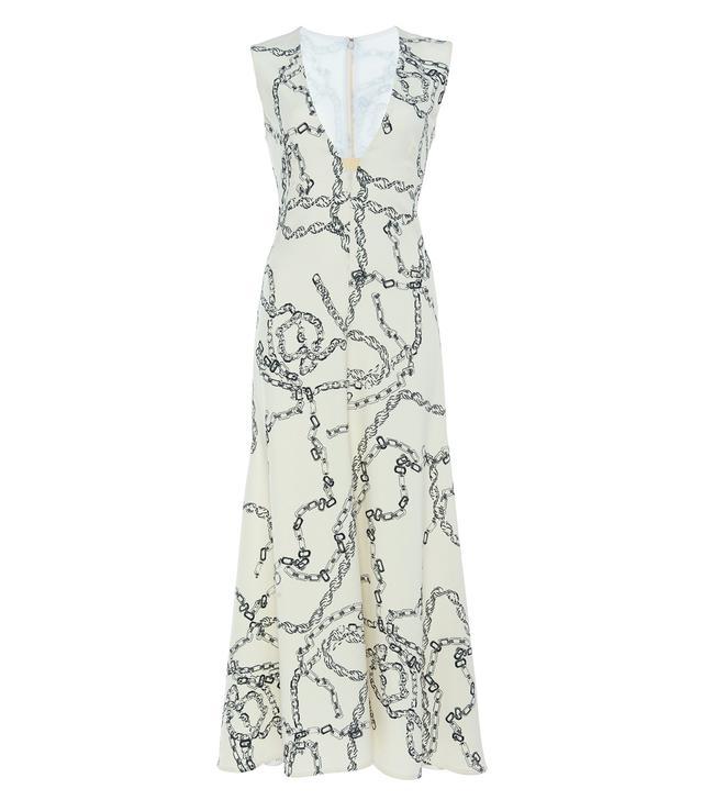 Victoria Beckham Chain-Link Print Cady Dress