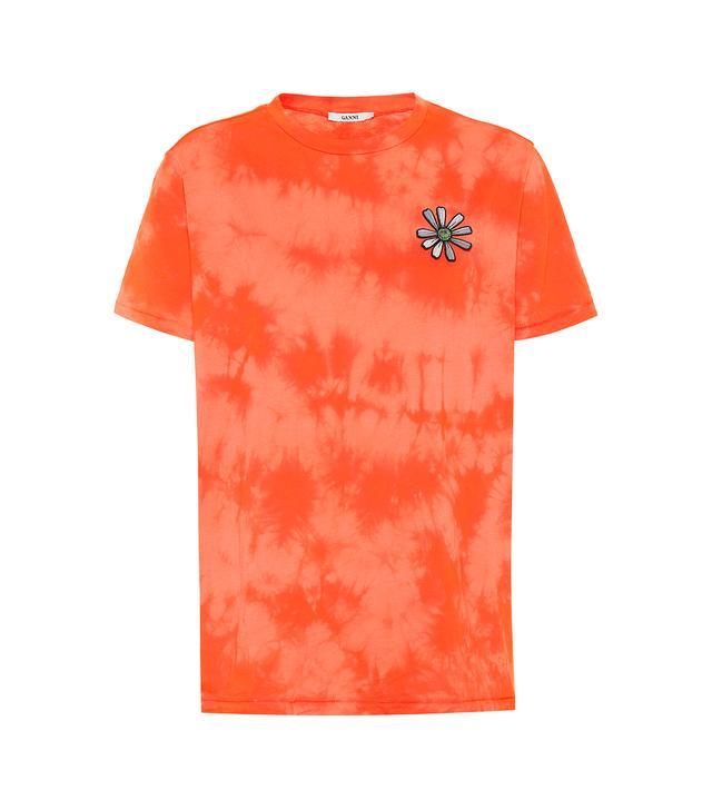Ganni Verbena Tie-Dyed Cotton T-Shirt