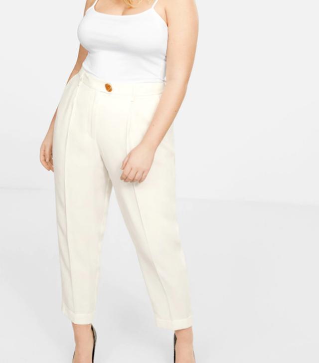 Violeta Pleat Straight Trousers