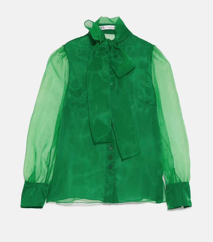 3d6be79c8534 Zara's Chiffon Blouses Look so Expensive | Who What Wear UK