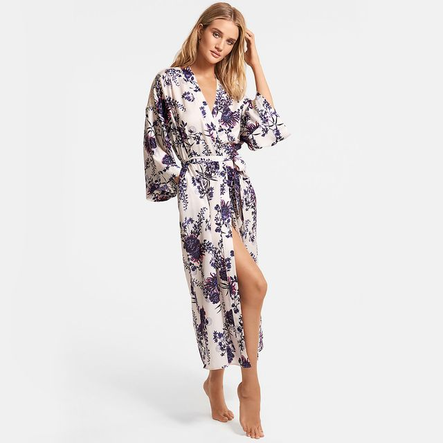 Marks & Spencer Rosie for Autograph Satin Floral Print Wide Sleeve Dressing Gown
