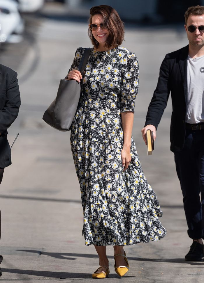 Mandy Moore Just Wore the New Rixo Dress That Is All Over Instagram