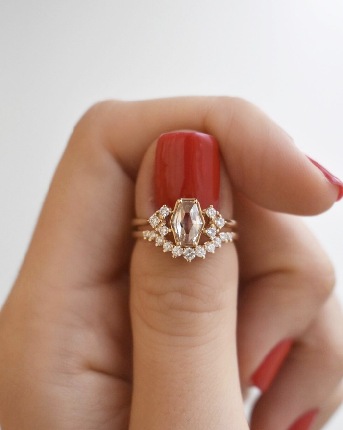 The Unexpected Engagement Ring Shape That's Taking Over