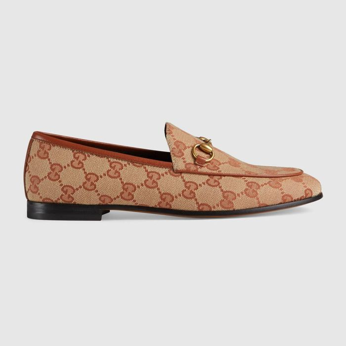 bf3ffdc16d6 Gucci Jordaan GG Canvas Loafer ( 695)