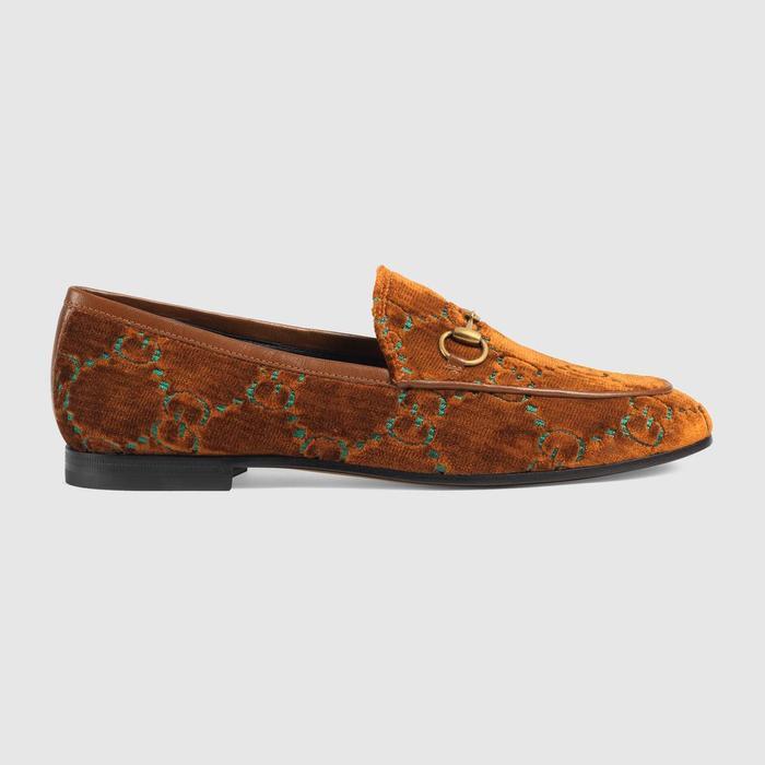 0321406ccaf Gucci Jordaan GG Velvet Loafer ( 730)