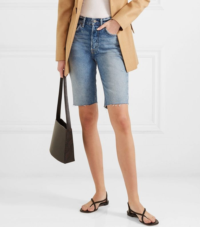 cd6ebbc3a The Denim Bermuda Shorts Trend That s Emerging for Summer