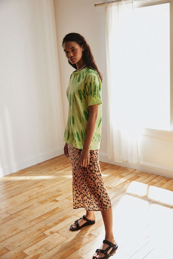 528ae7c3c429 Urban Outfitters Rowan Leopard Print Satin Slip Skirt ( 59)