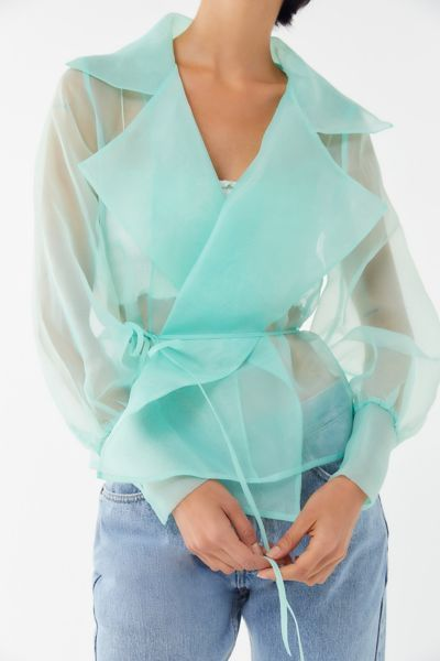 The Best Sheer Silk Organza Blouses To Buy Now Who What Wear