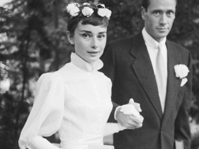 6 Elegant Wedding Dress Trends From Audrey Hepburn, Jane Birkin, and More