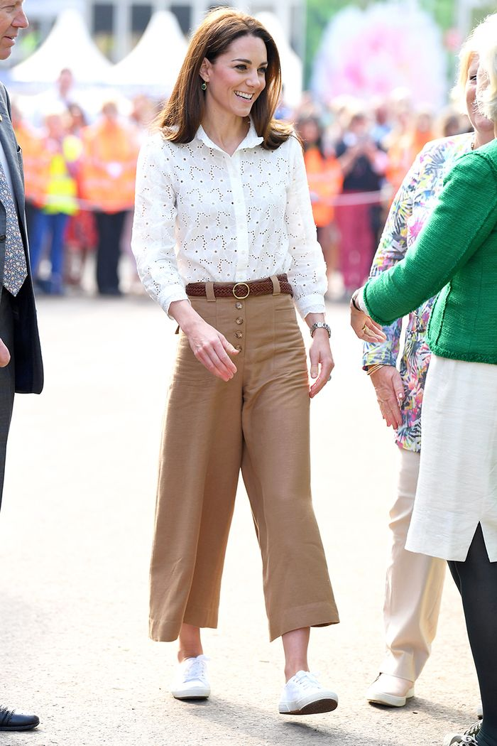39d0c10f0346 Kate Middleton Wore the Wide-Leg-Pant Trend | Who What Wear