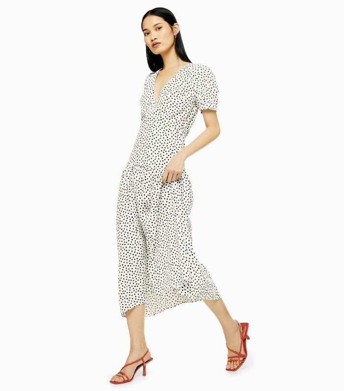 004acceb Zara's Polka-Dot Dress Is Taking Over London | Who What Wear UK