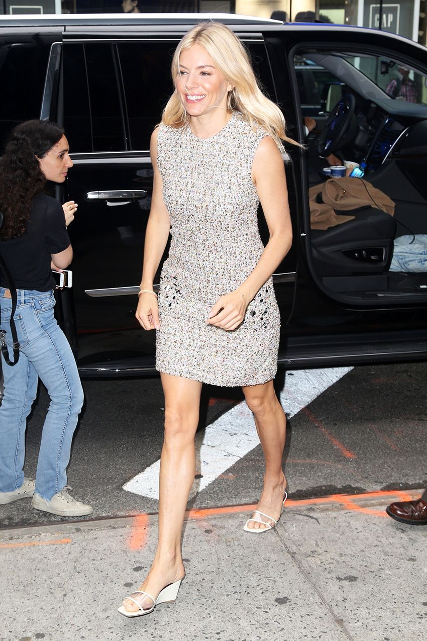 Sienna Miller Found the Summer It Shoes to Wear With Dresses