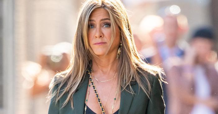Jennifer Aniston Wore The Most Amazing Leather Minidress