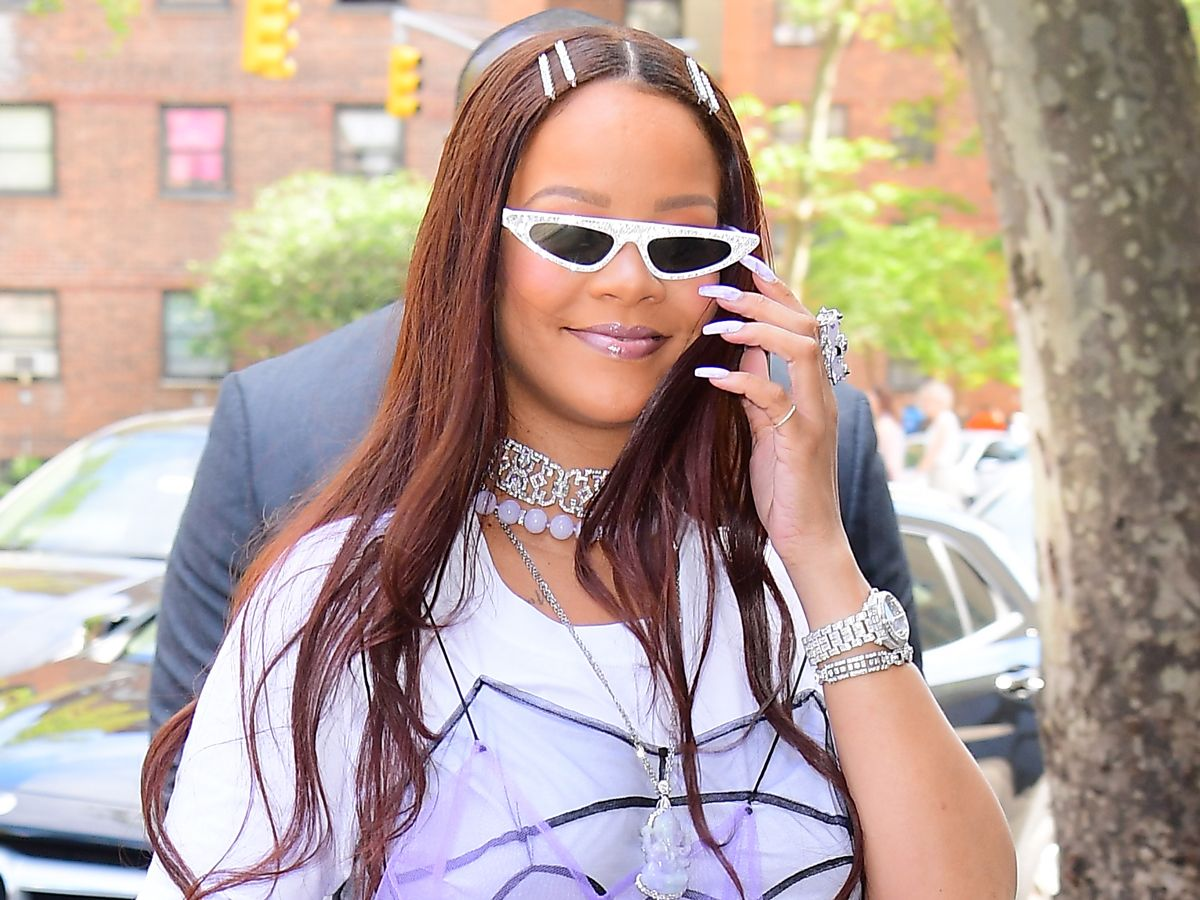 Rihanna Basically Wore Cinderella's Glass Slippers With Jeans