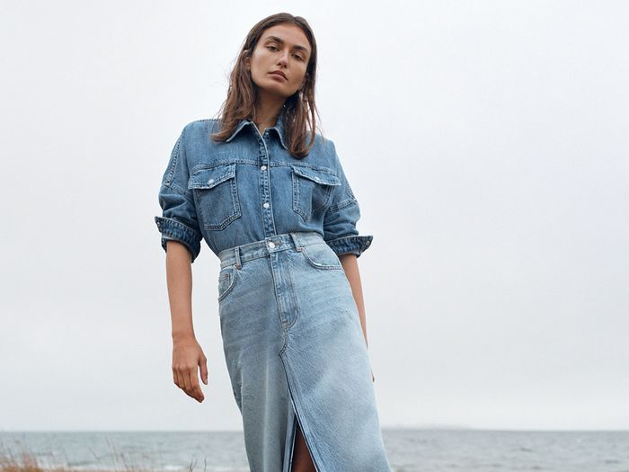 4876714d The 5 Most Popular 2019 Denim Trends at Zara | Who What Wear