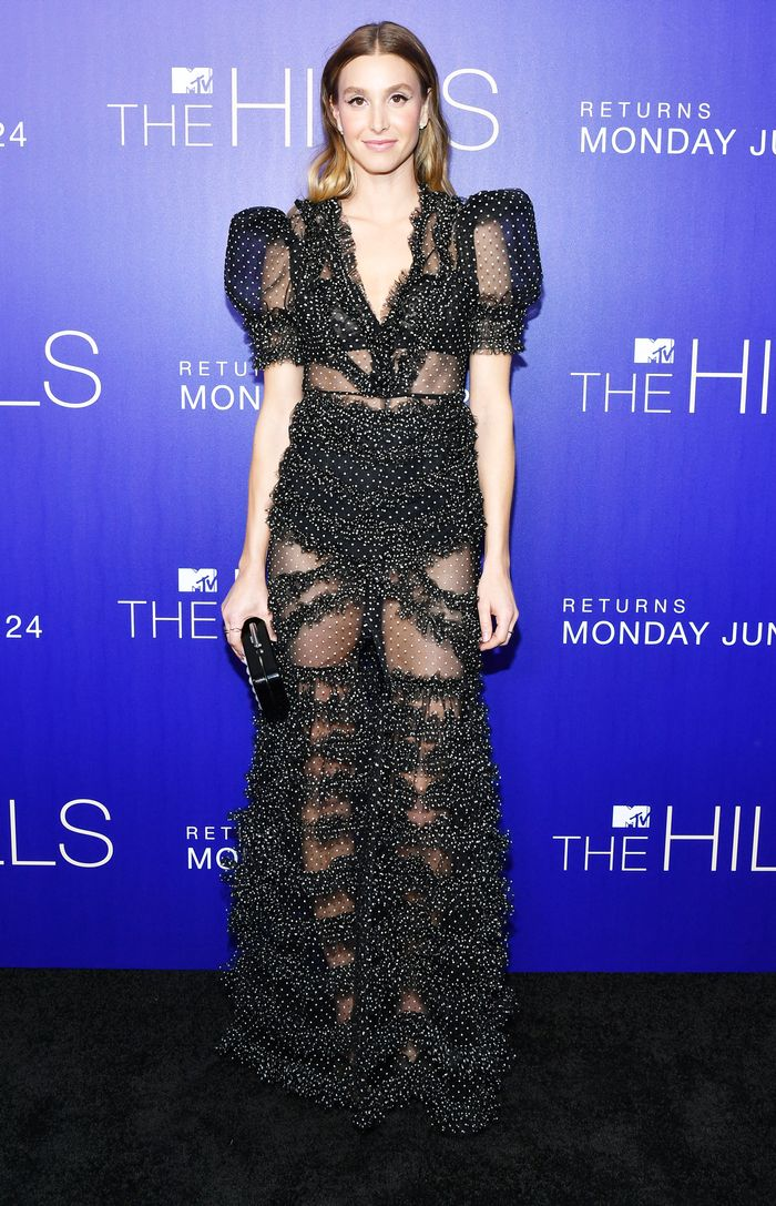 Whitney Port Wore a Totally Sheer Dress to The Hills Premiere Red Carpet