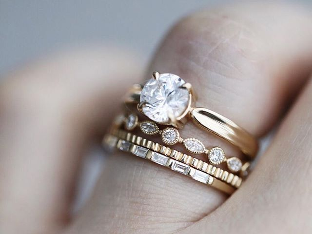Baguette Wedding Band.25 Baguette Wedding Bands That Look So Timeless Who What Wear