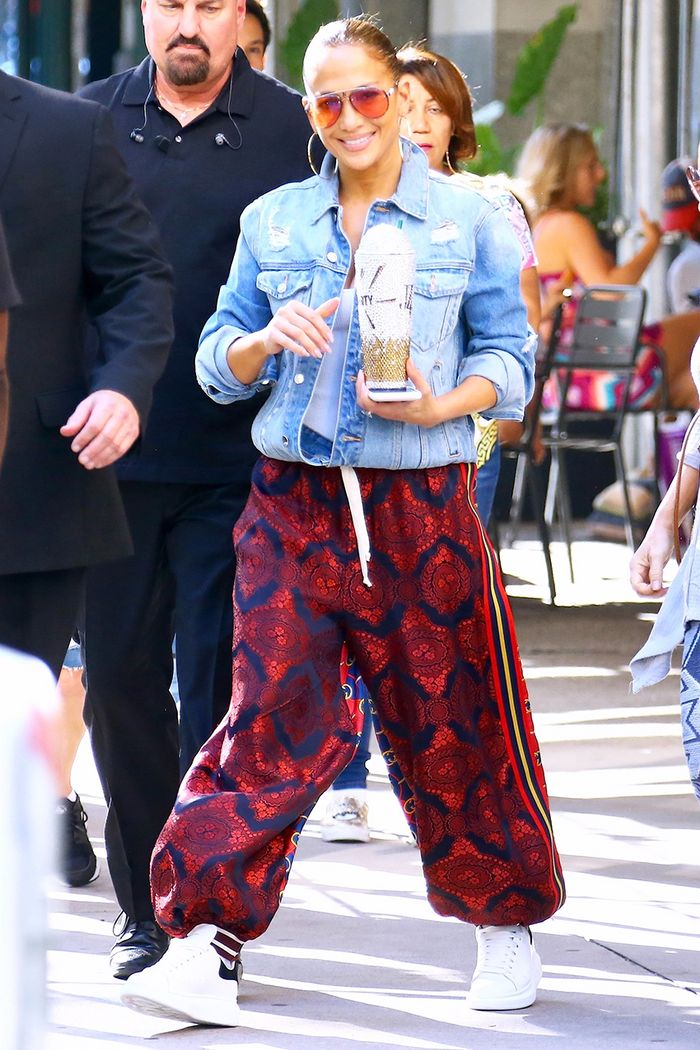 b554064fe J.Lo Wore Gucci Parachute Pants With Sneakers | Who What Wear