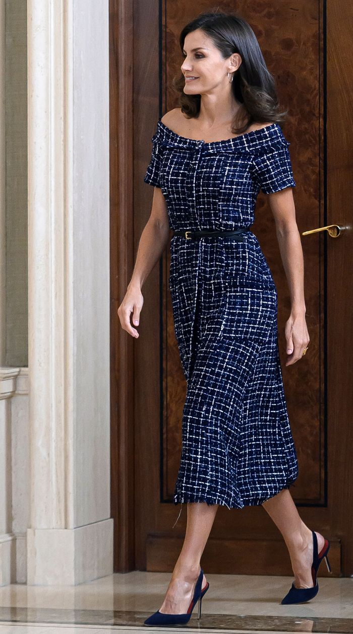 "Queen Letizia's $30 Zara Dress Hits on This Year's Biggest ""Grandma"" Trend"