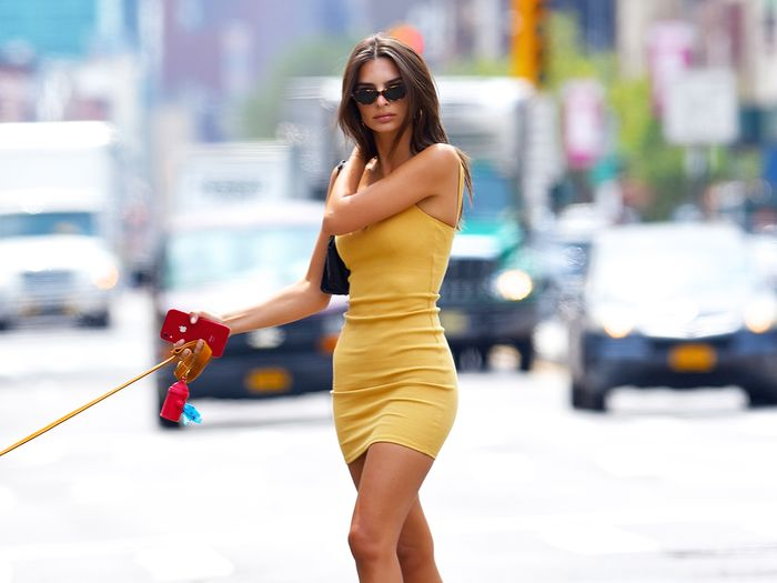 Emily Ratajkowski Wore Just a Lacy Bra and Underarm Hair on Her New Cover