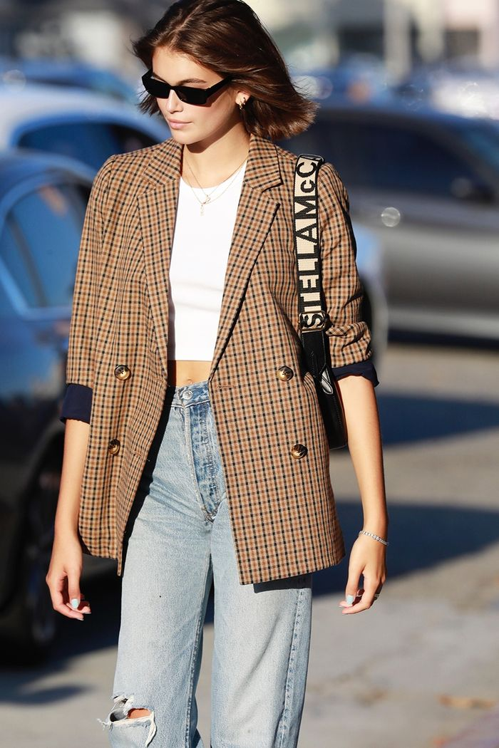 Kaia Gerber Wore the Most On-Trend Madewell Item With Jeans