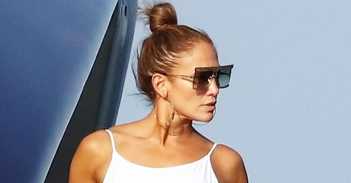 Jennifer Lopez Is Literally Ageless in This High-Cut Thong Swimsuit