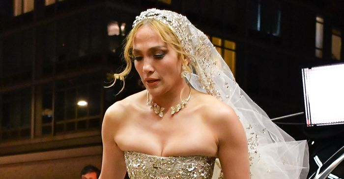 J.Lo Just Wore the Most Over-the-Top Wedding Dress Ever