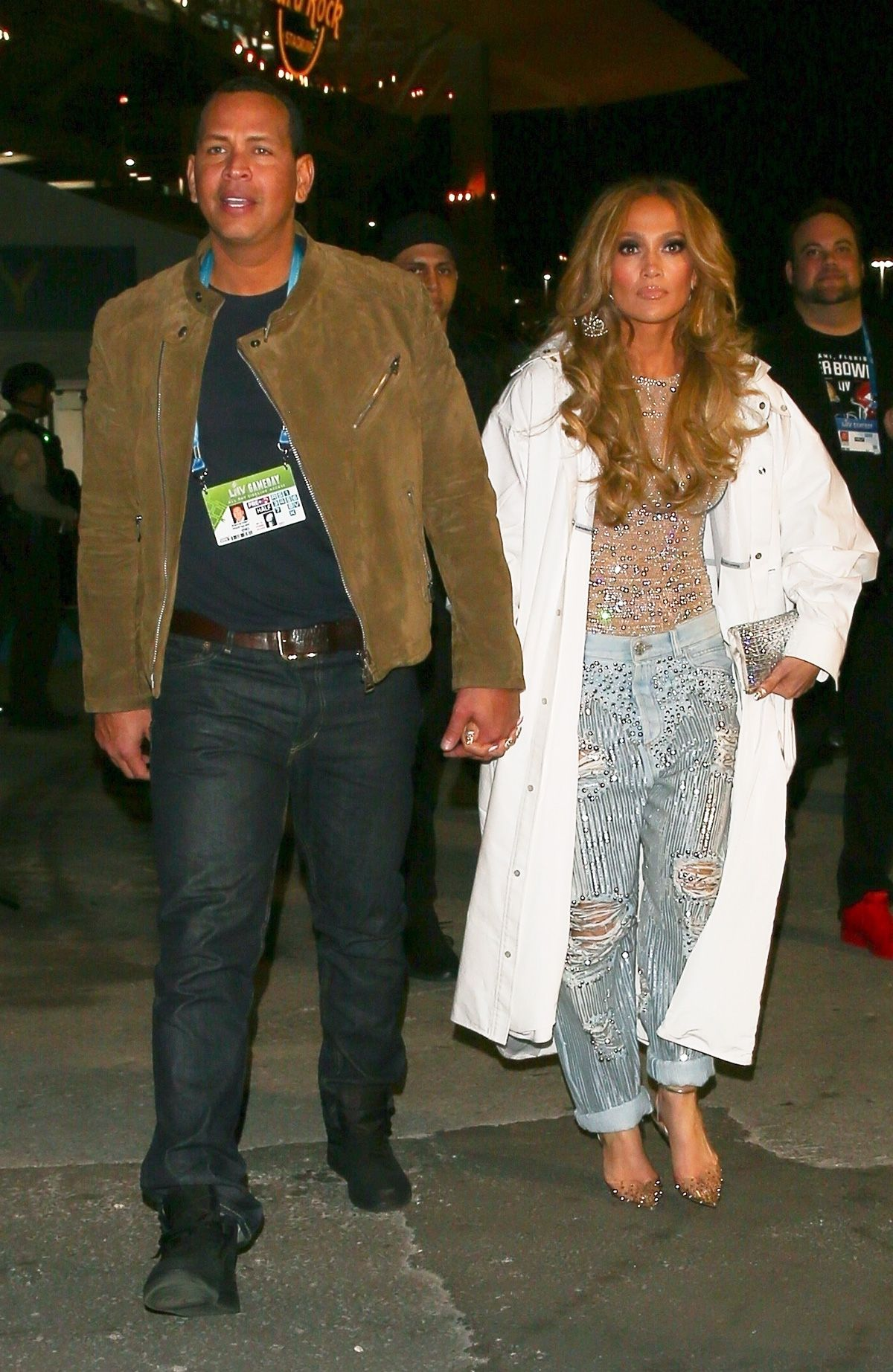 J.Lo Changed Into Low-Rise, Baggy Jeans for the Super Bowl After-Party