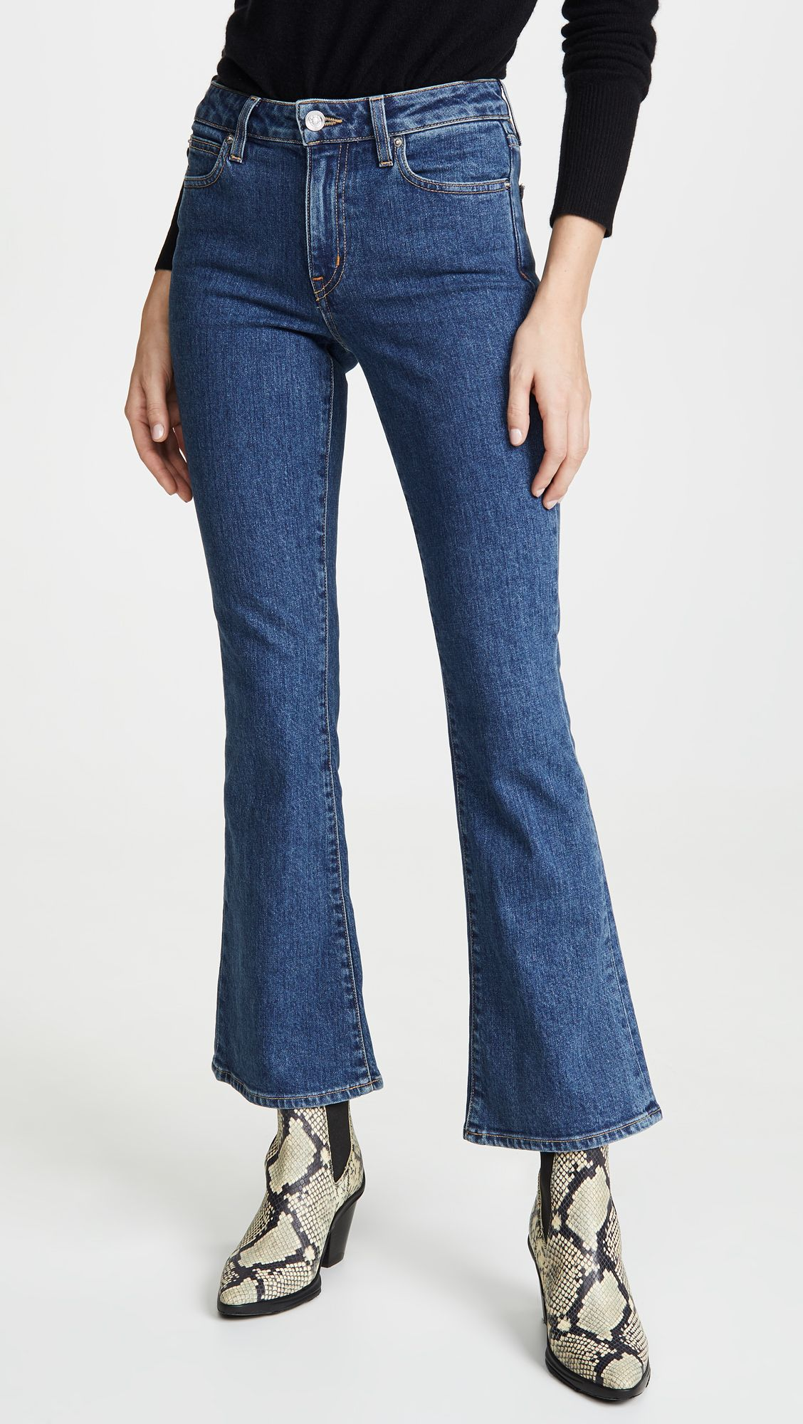 My Friend Asked What to Wear With Flare Jeans, and I Suggested These 6 Basics 26