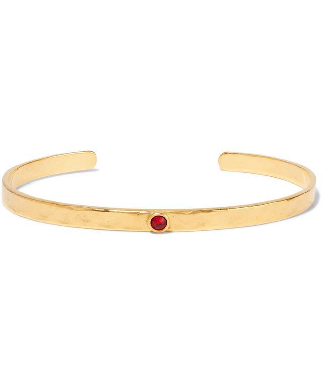 Chan Luu Birthstone Gold-Plated Swarovski Crystal Cuff