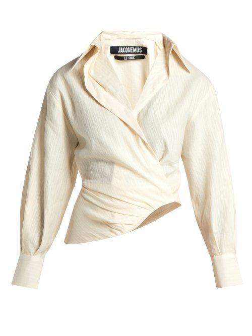 - Sabah Linen Blend Shirt - Womens - Cream