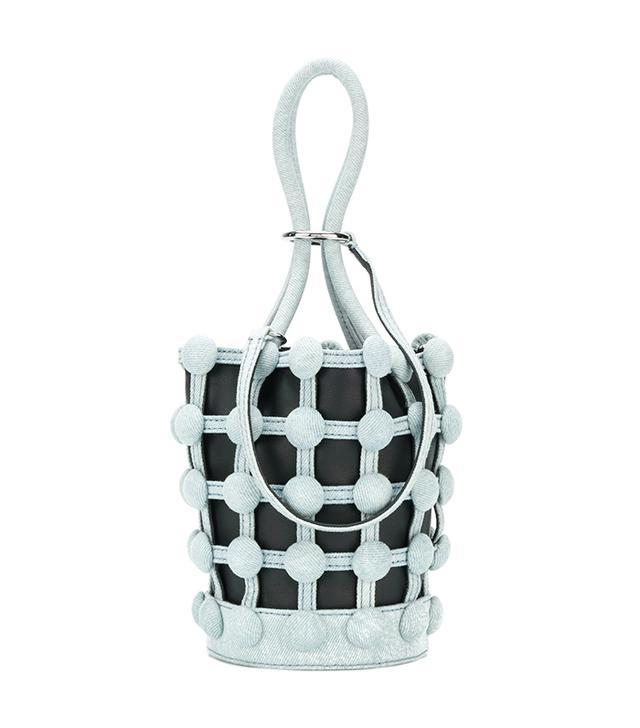 Roxy Denim Cage Mini bucket bag