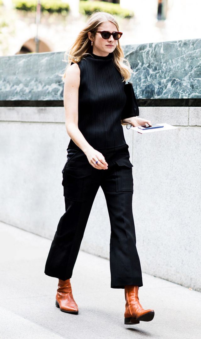 Instead of wide-leg trousers, try cropped flares or tailored trousers.