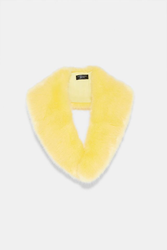Zara Colored Faux Fur Scarf