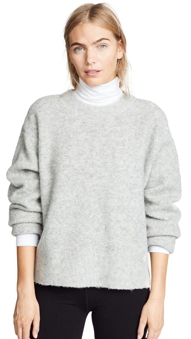 T by Alexander Wang Exaggerated Pilling Pullover