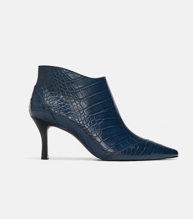 Zara Patterned Ankle Boots