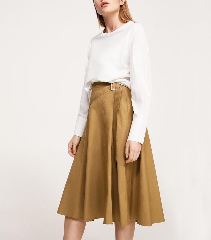 fc4fb255ff Pinterest · Shop · Violeta by Mango Buckle Cotton Skirt ($100)