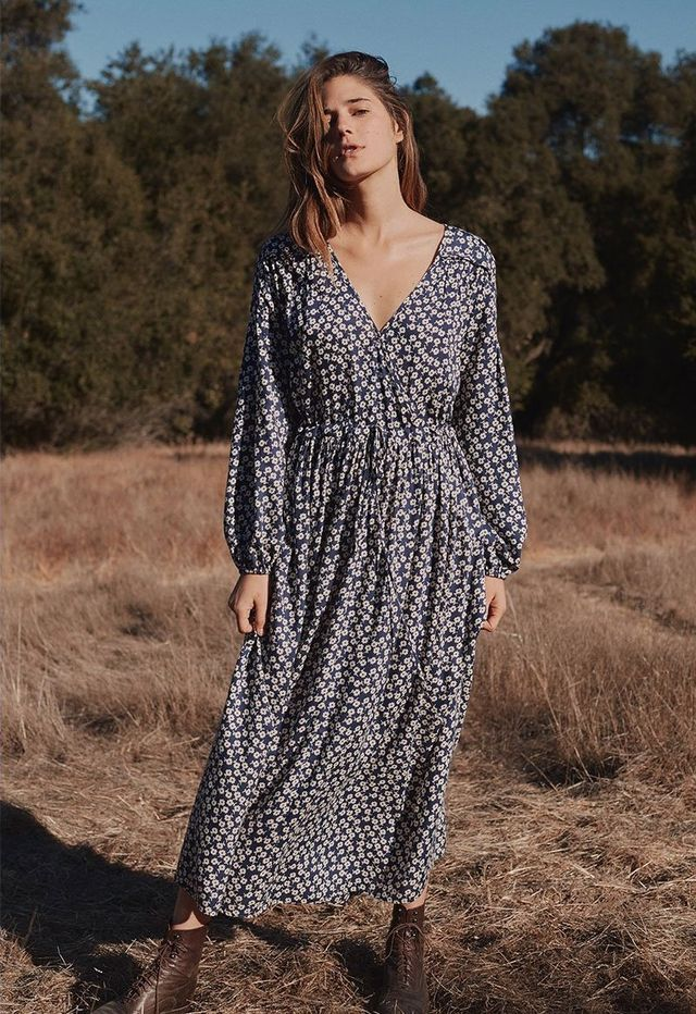 Christy Dawn The Autumn Dress in Navy Dot