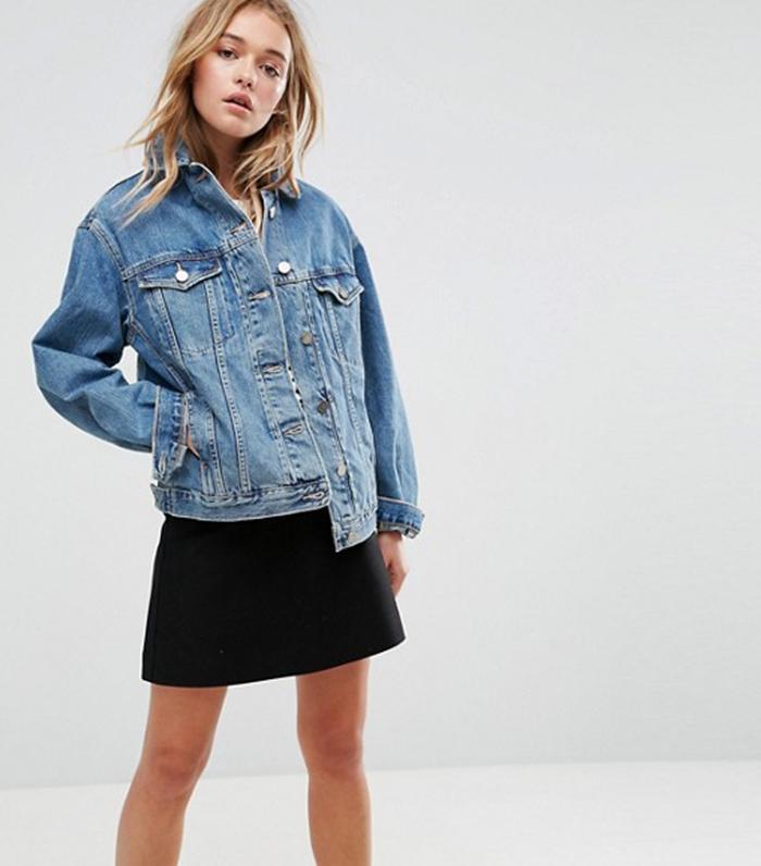 Oversize jeans jacke damen zara