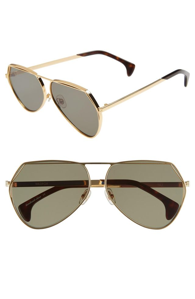 Taj 62mm Oversize Aviator Sunglasses