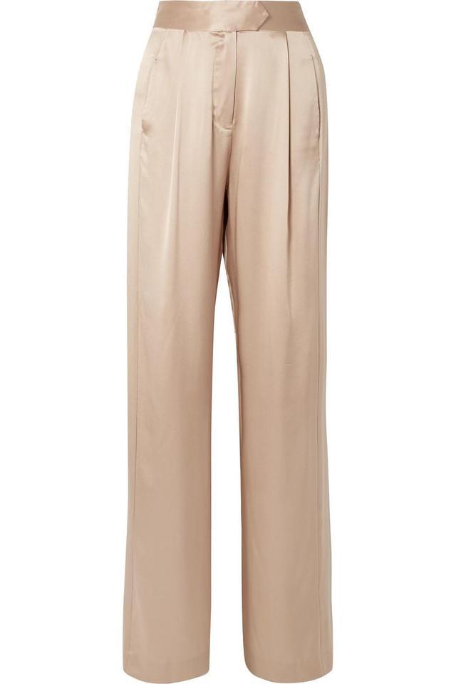 Wide-leg Silk-charmeuse Pants
