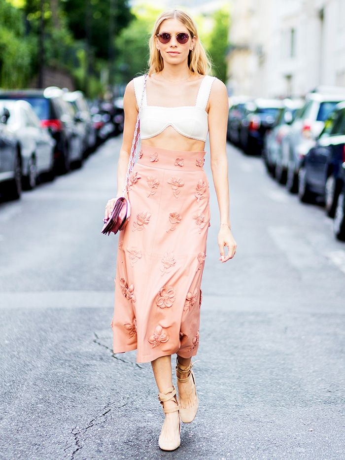 fe1af4ca6d67 5 Ways to Wear a Leather Skirt for Summer | Who What Wear