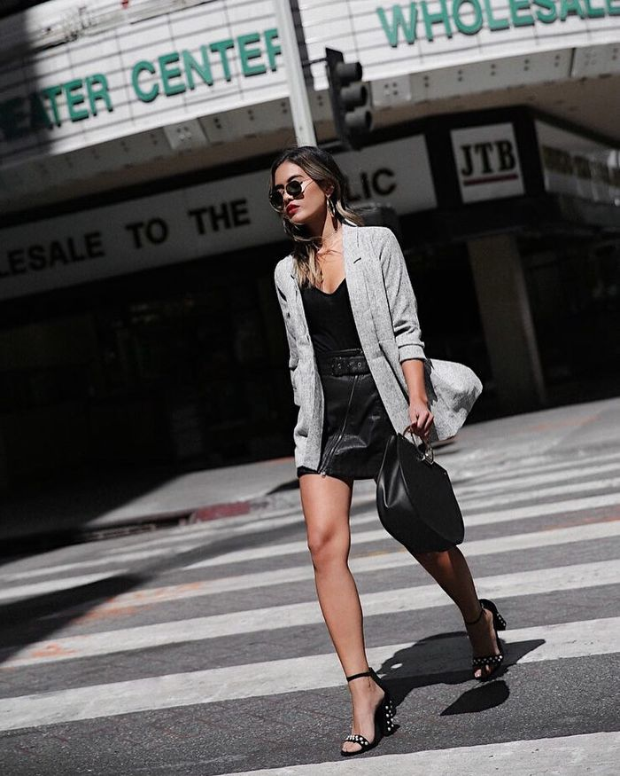1120bf9e35 5 Ways to Wear a Leather Skirt for Summer | Who What Wear
