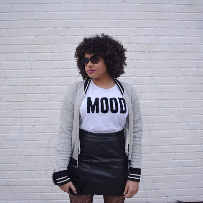 d5b9dddd3f7 Pinterest. Photo: @humidityistheenemy. 4. Wear your leather skirt ...