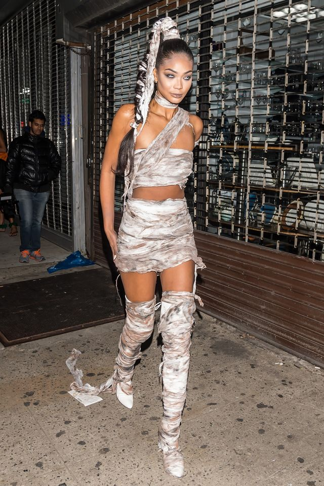 Chanel Iman mummy Halloween costume
